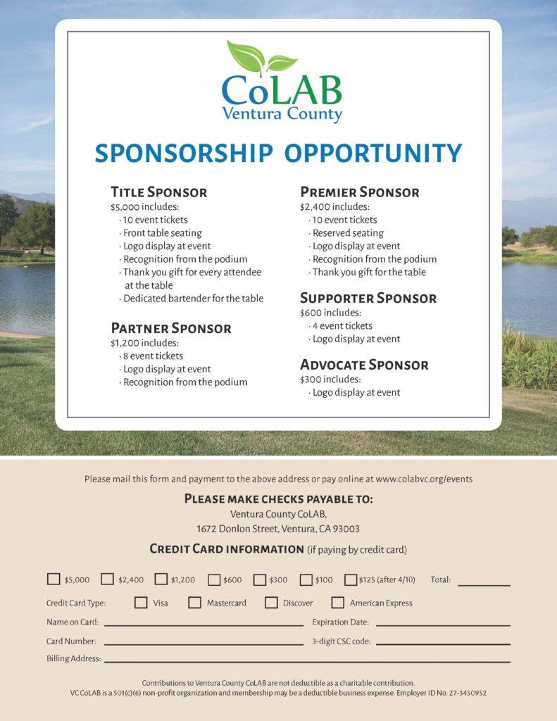 2020 Spring Sponsor Form