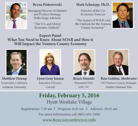 CA Economic Forecast Speakers